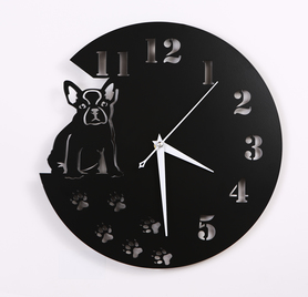 Metalowy zegar ścienny Buldog