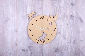 Metalowy zegar ścienny Bambi