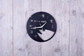 Metalowy zegar ścienny Ryba