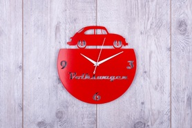 Metalowy zegar ścienny Volksvagen