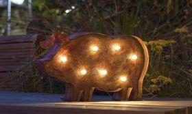 Figurka ogrodowa z diodami LED - ŚWINKA