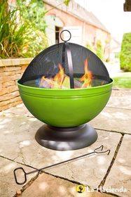 Palenisko ogrodowe Globe zielone +grill