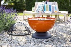 Palenisko ogrodowe Globe pomarańczowe + grill